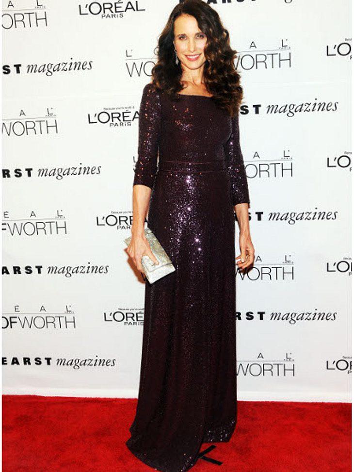 Klau den Look der Stars: Partykleider-SpecialIn diesem Kleid von Andie MacDowell kommt gleich besinnliche Stimmung auf.