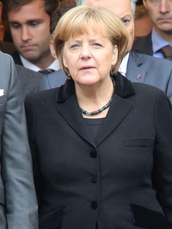 Angela Merkel hatte einen Ski-Unfall
