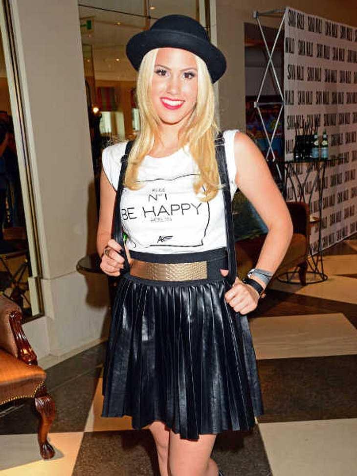 Angelina Heger präsentierte ihr T-Shirt auf der Fasihon Week.