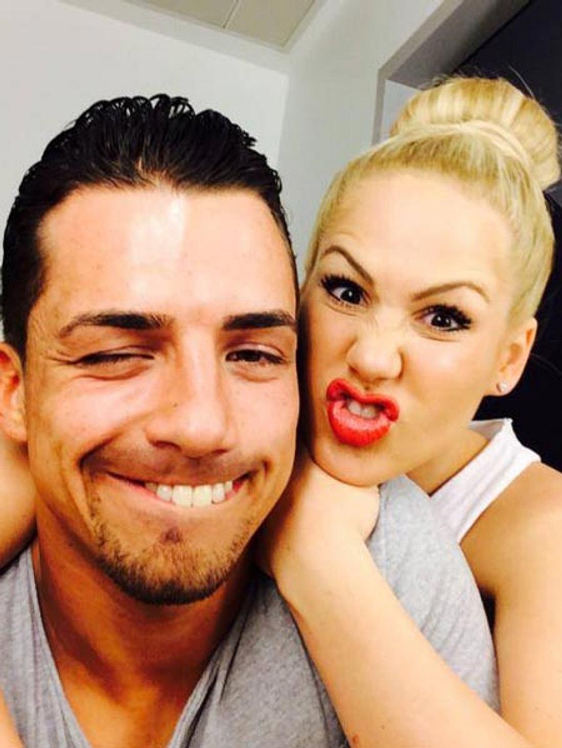 Chrissi drückt seiner Angelina die Daumen