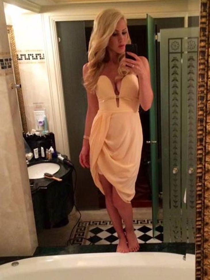 Angelina Heger hatte dieses Kleid eigentlich verlost