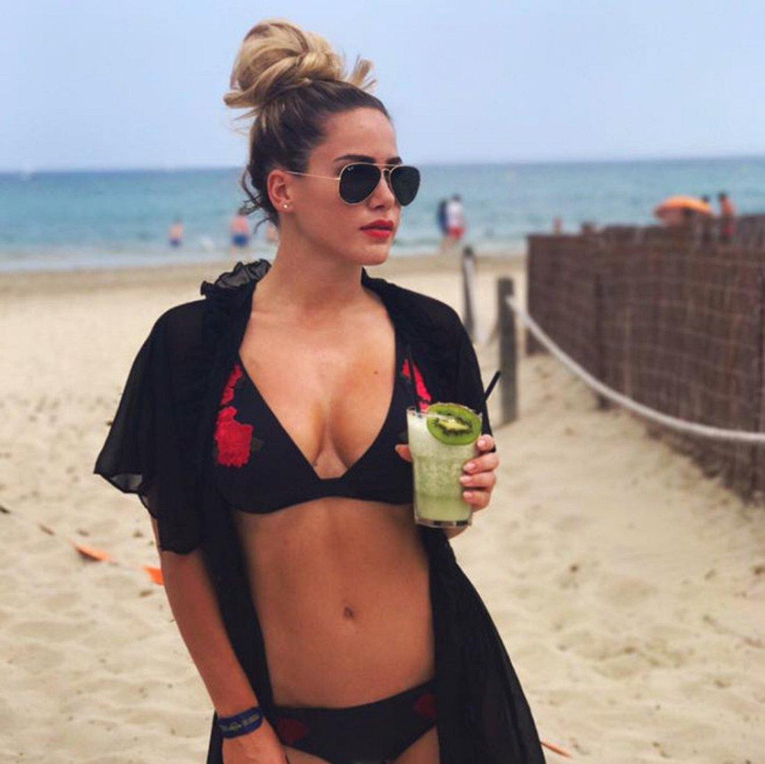 Angelina Heger war mit ihrer Mutter im Urlaub