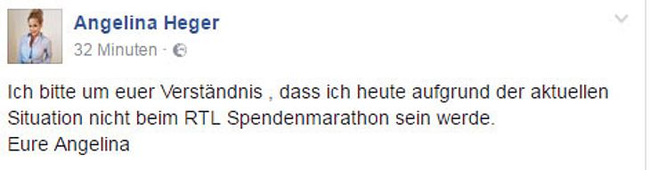 Angelina Heger lässt den Spendenmarathon sausen