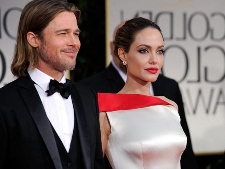 """""""Du bist viel schöner als ich"""", soll Angelina Jolie bei den Golden Globes zu Brad Pitt gesagt haben."""