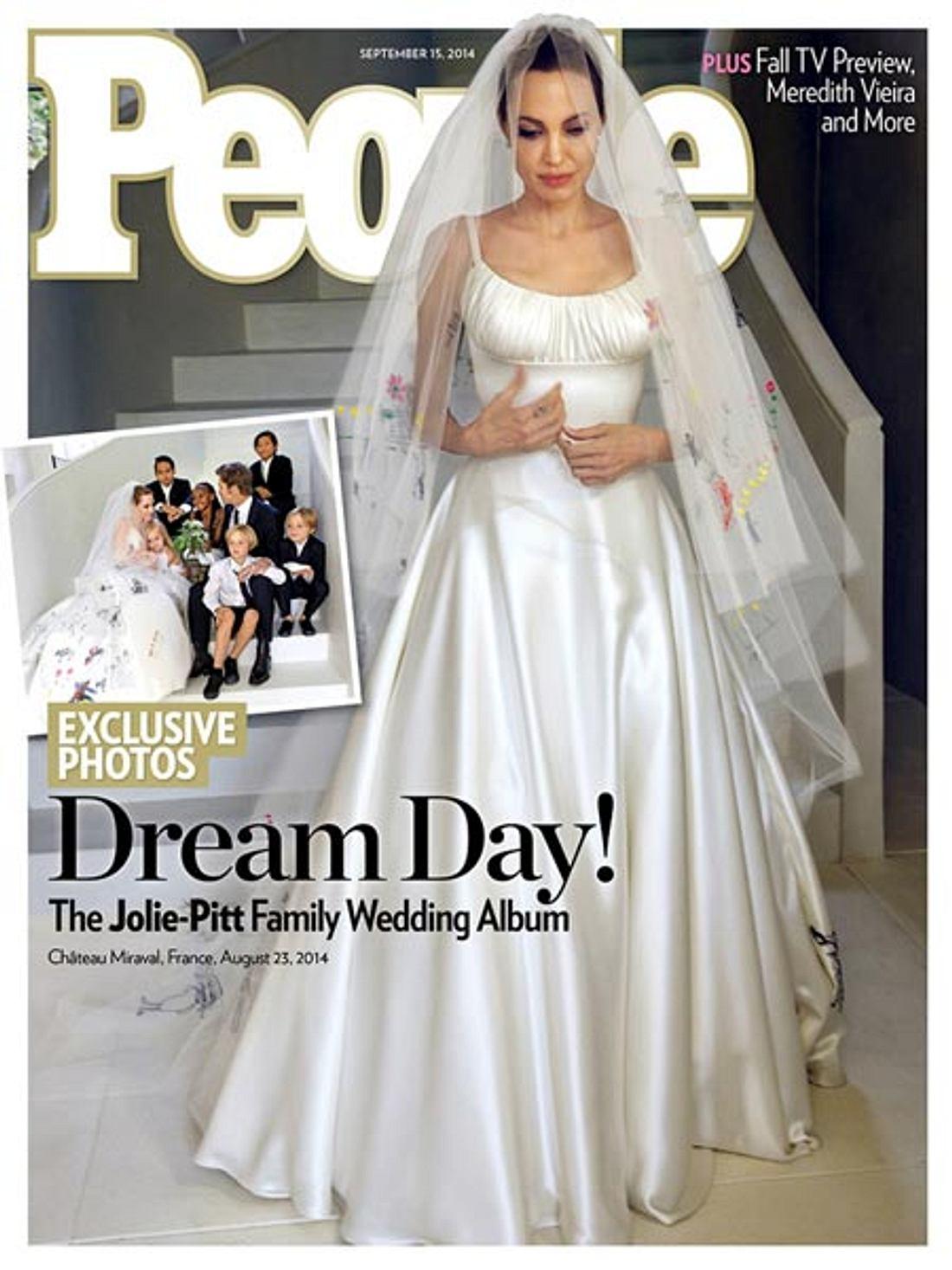 Angelina Jolie im Brautkleid