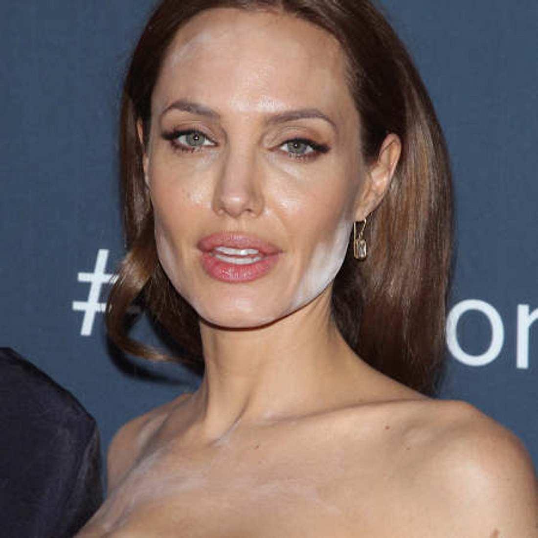Angelina wurde zu weiß gepudert
