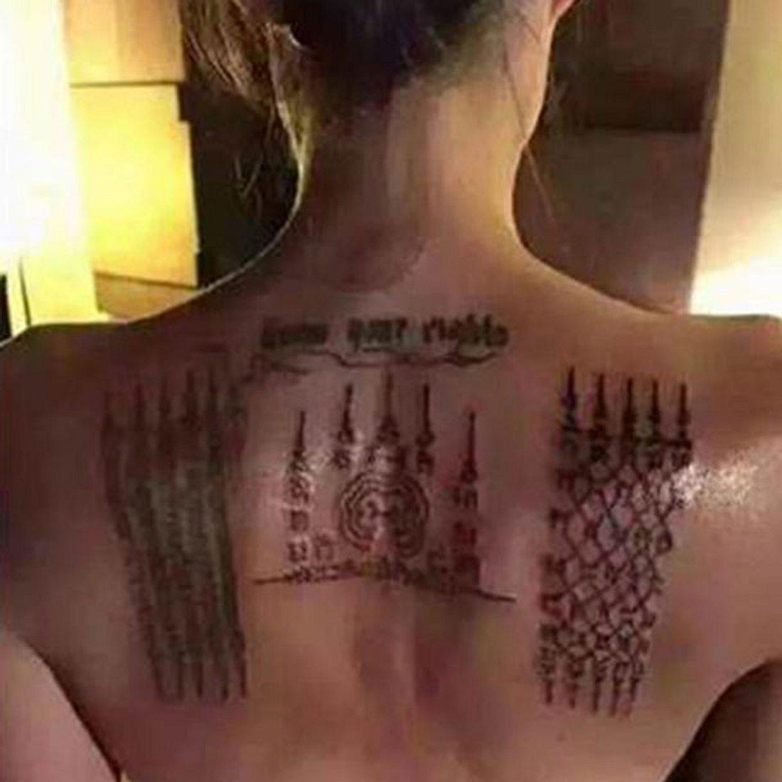 Angelina Jolie - Neues Tattoo