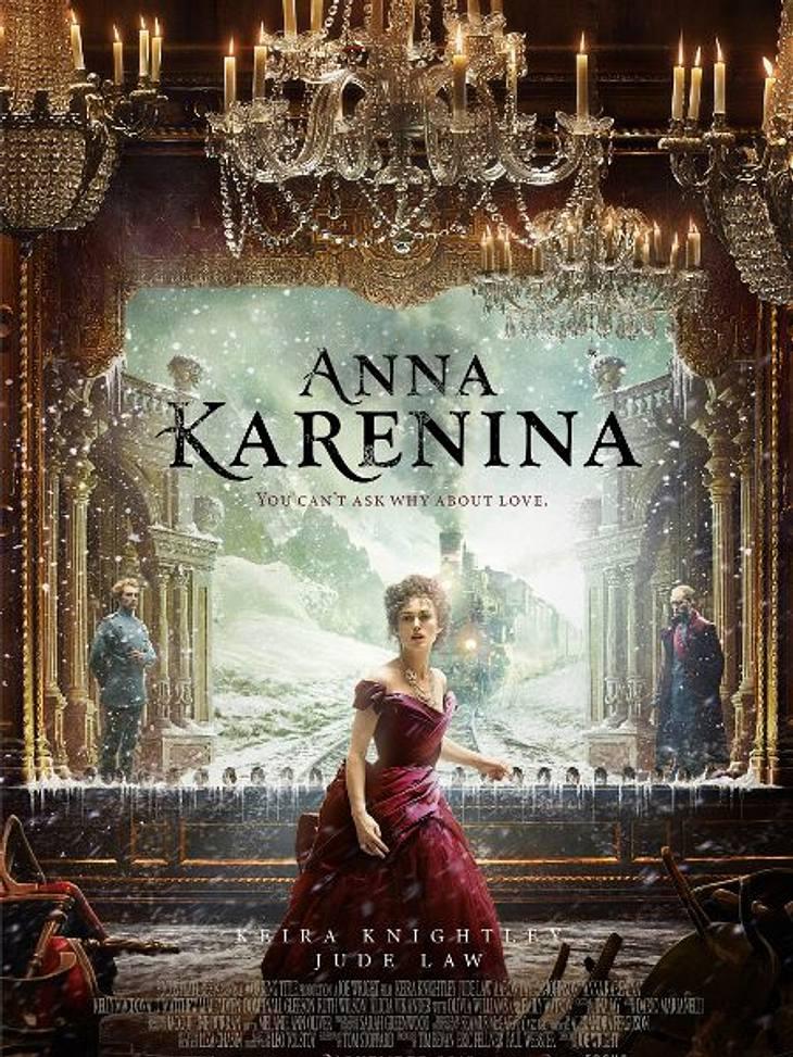 """Die Oscar-Filme 2013Der Film """"Anna Karenina"""" mit  Keira Knightley in der Hauptrolle ist die Verfilmung des Klassikers von Leo Tolstoi. Es geht um Moral und Ehe im Russland des 19. Jahrhunderts. Ganze vier Oscars sind drin."""