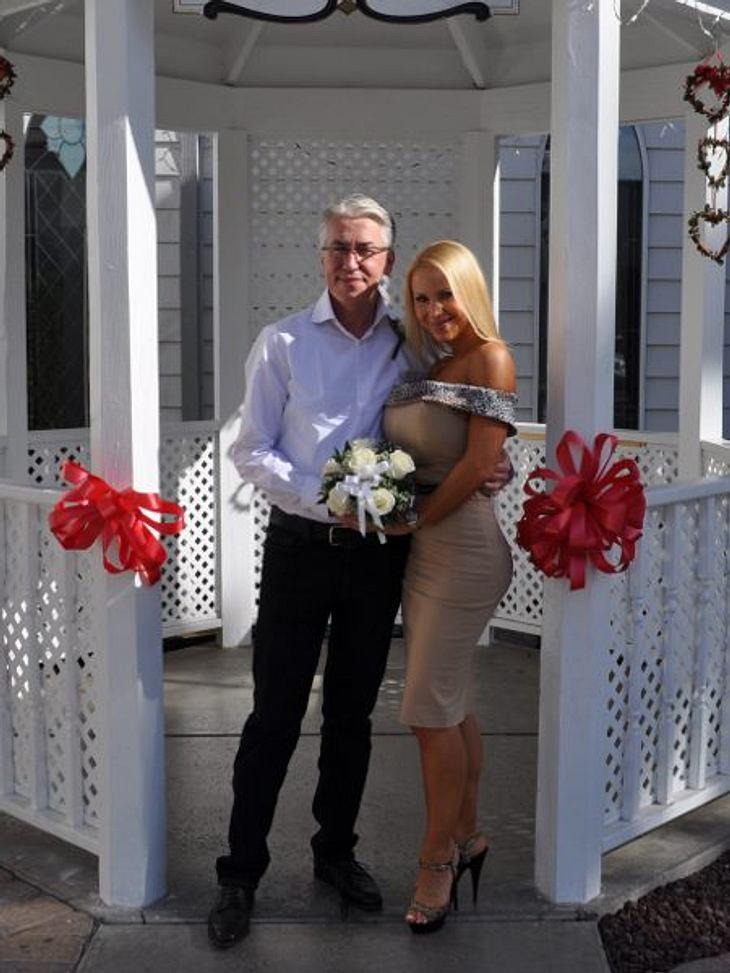 Annina Ucatis mit ihrem Mann in Las Vegas