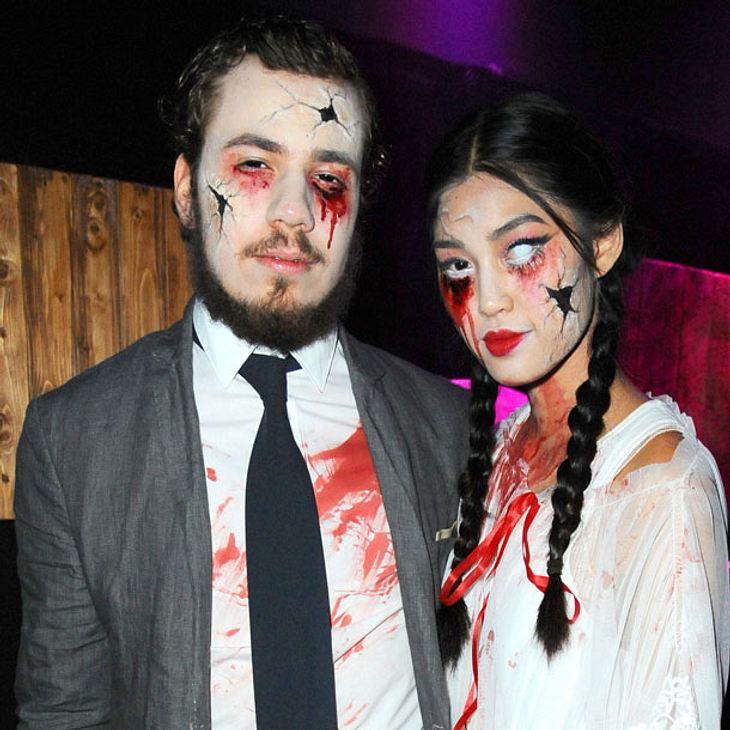 Anuthida und Freund zu Halloween