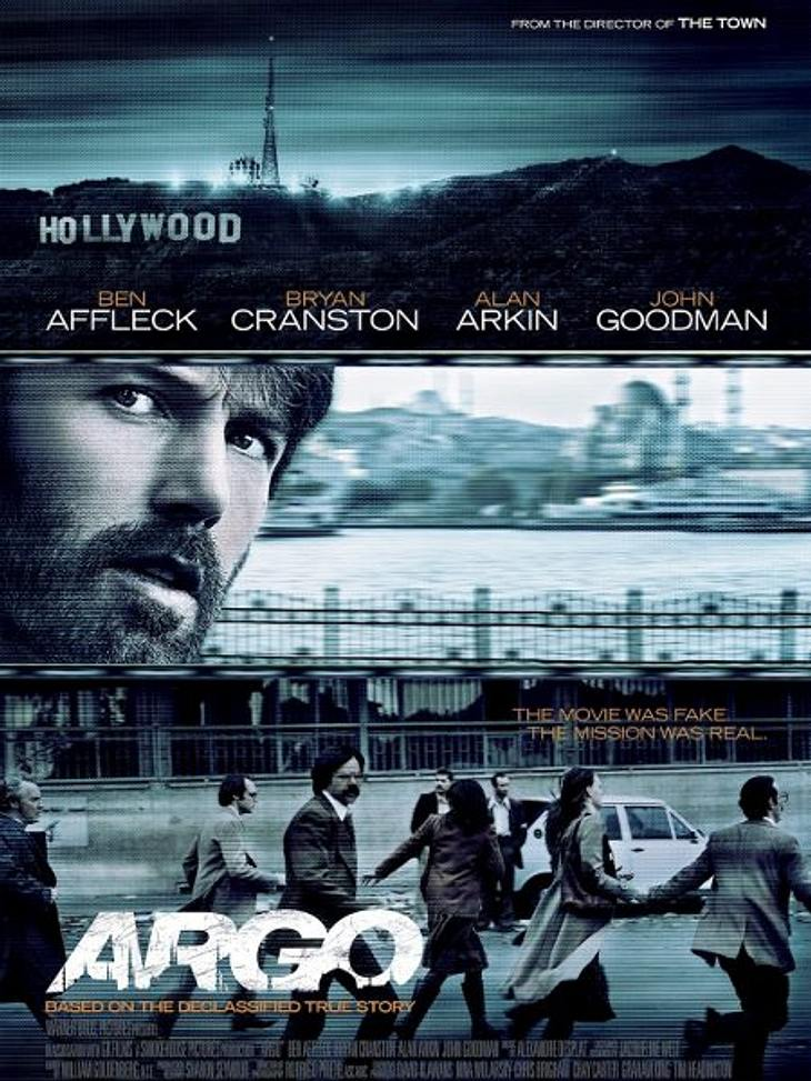 """Die Oscar-Filme 2013""""Argo"""" mit und von  Ben Affleck basiert auf einer wahren Begebenheit. Es wird eine Sequenz aus der Geiselnahme von Teheran 1979 thematisiert. Sieben Oscars sind möglich, unter anderem als bester Film."""