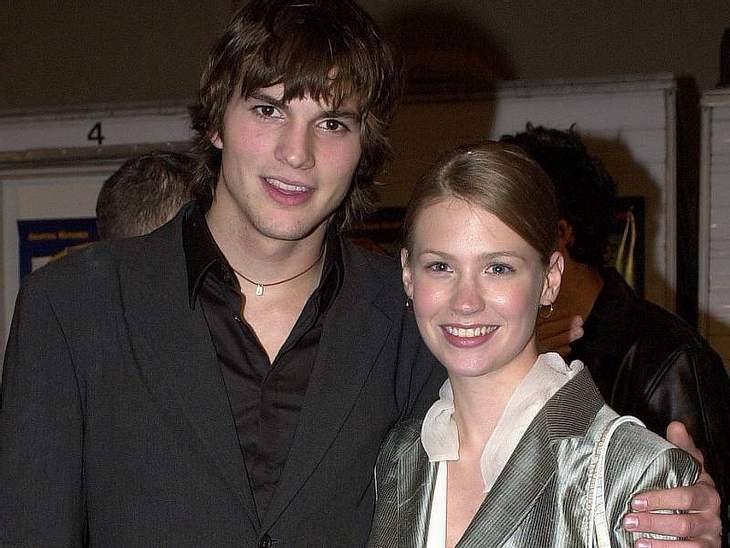 """Was? Die waren mal ein Pärchen?Ja, auch die beiden hatten mal was miteinander. Als Jungschauspielerin verfiel  January Jones (""""Mad Men"""")  Ashton Kutcher. Sie trennte sich von ihm, weil er ihr Potenzial nicht sah: """"Er redete m"""
