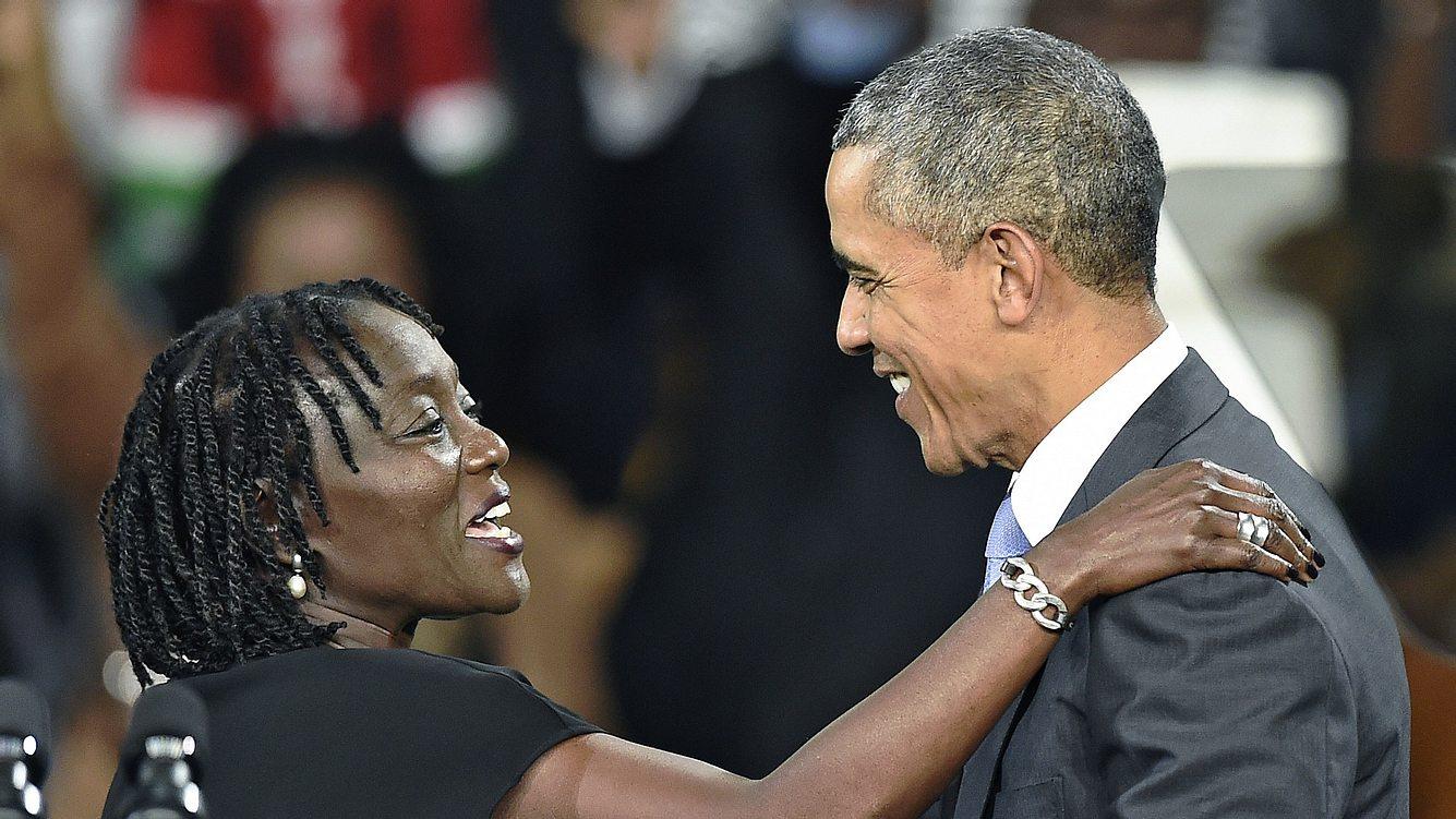 Auma Obama und Barack Obama