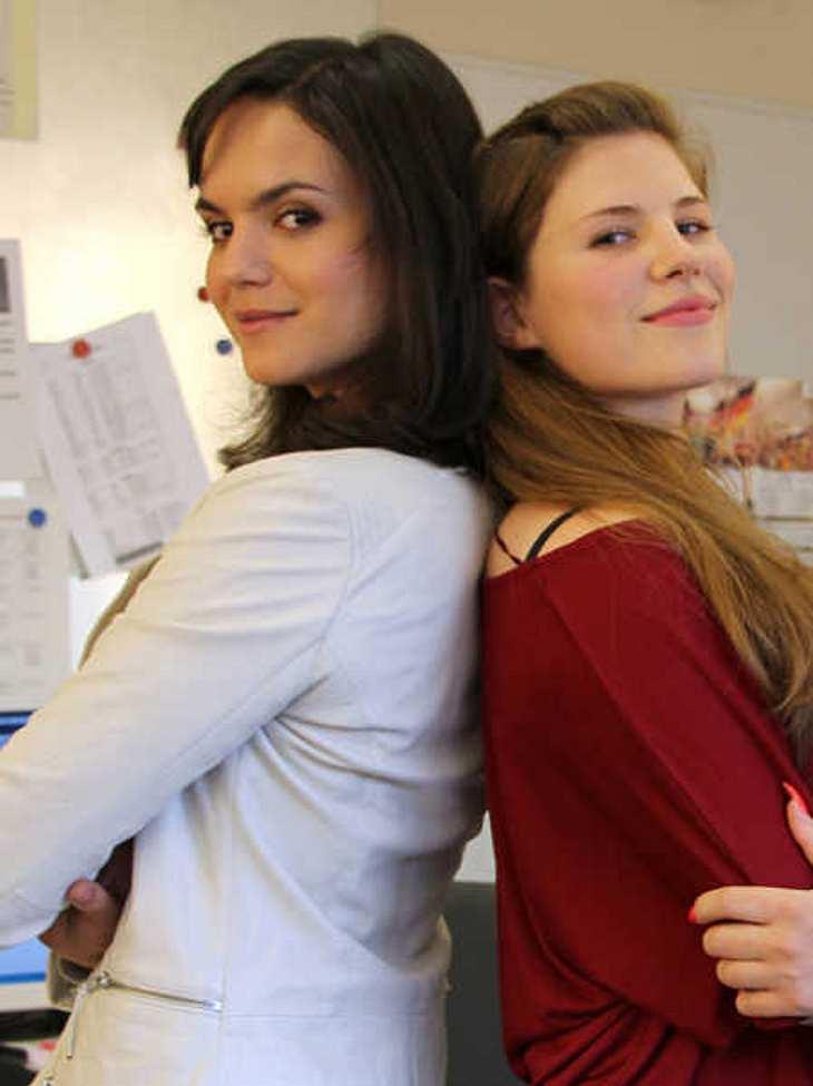 """Michele Fichtner und Naima Fehrenbacher sind neu bei """"Alles was zählt""""."""