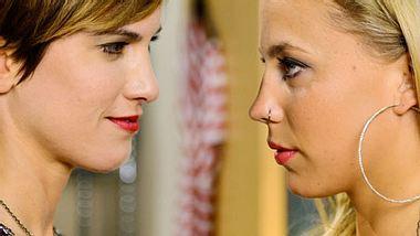 Heiße Liebesszenen zwischen zwei Frauen