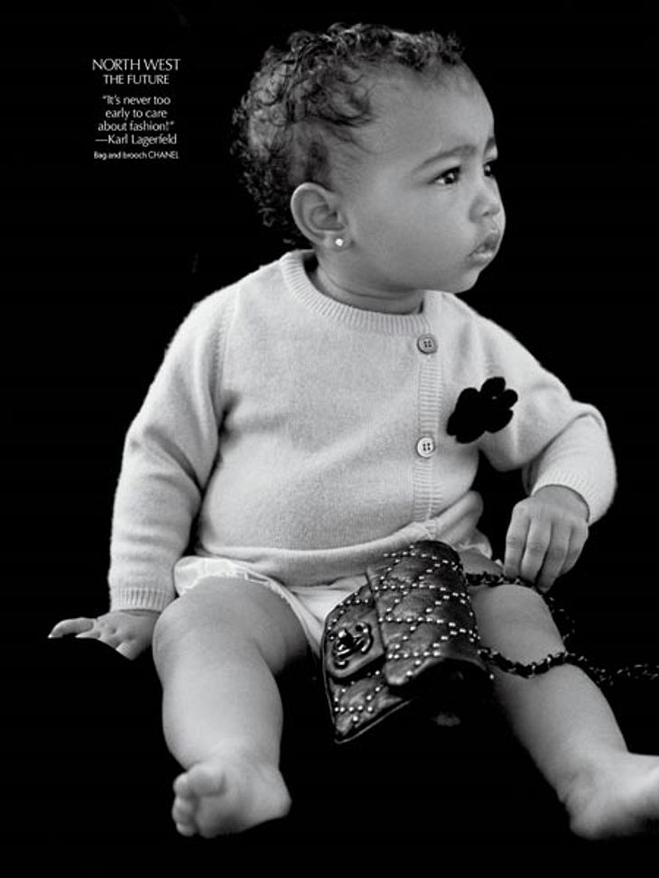 Baby North' erster Model-Job