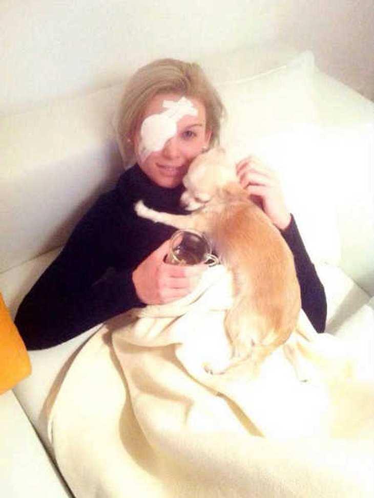 Bachelor-Kandidatin Katja geht es nach ihrer Operation wieder besser.