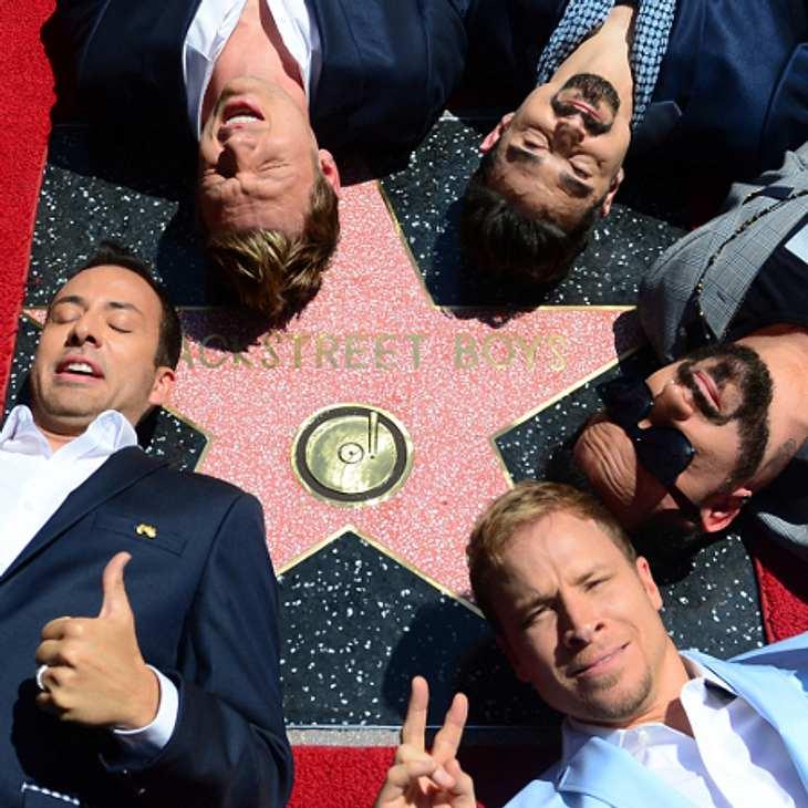 Die Backstreet Boys haben ihren Stern auf dem Walk of Fame