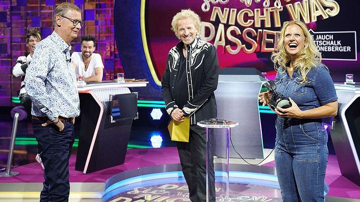 Barbara Schöneberger, Günther Jauch und Thomas Gottschalk