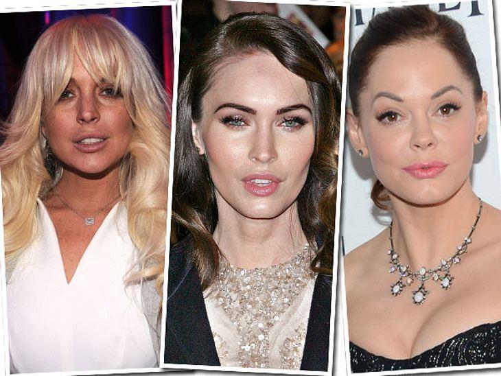 Die Beauty-Sünden der StarsSo jung, so glatt, so unecht...In Hollywood gibt es langsam kaum noch jemanden, der sich nicht bereits für die Schönheit unters Messer gelegt hat. Viele Promis lassen sich schon als mit 20 kleine Makel oder Mini-F
