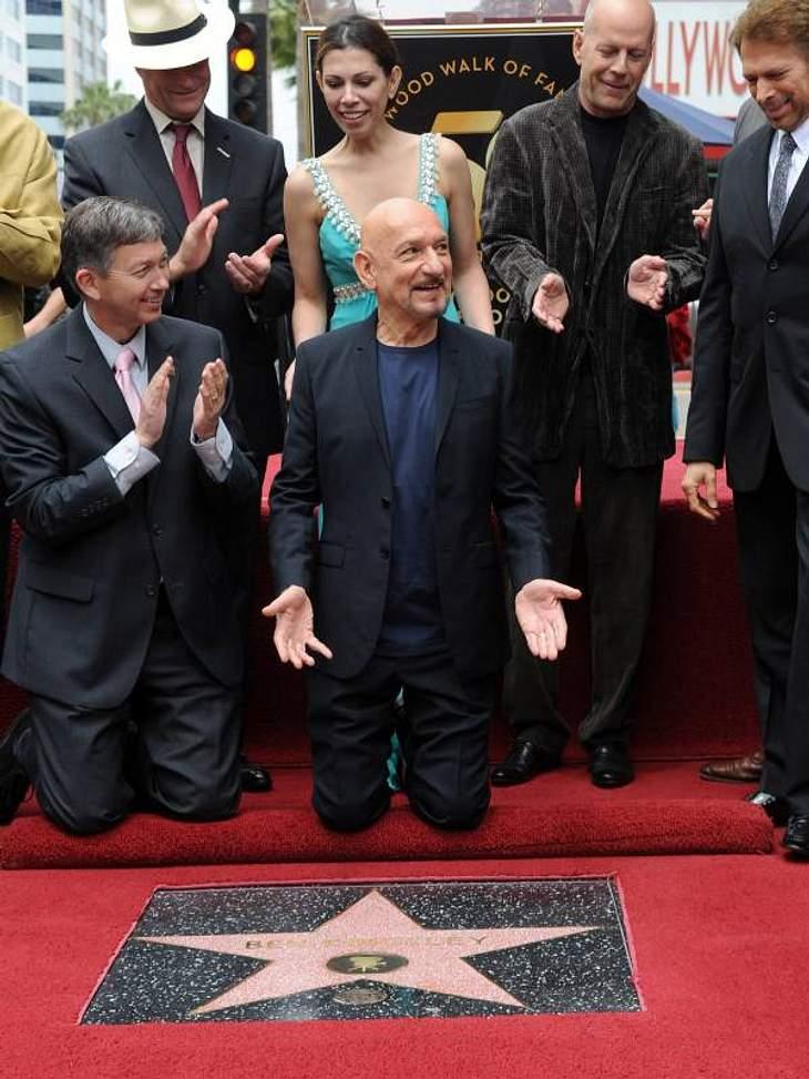 Walk of Fame: Die Sternstunde der Stars,Sir Ben Kingsley (68) wurde erst 2010 mit dem Stern geehrt.
