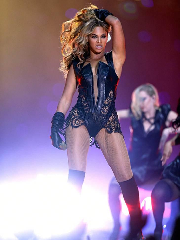 Beyoncé performte während der Halbzeitpause des Super Bowl.