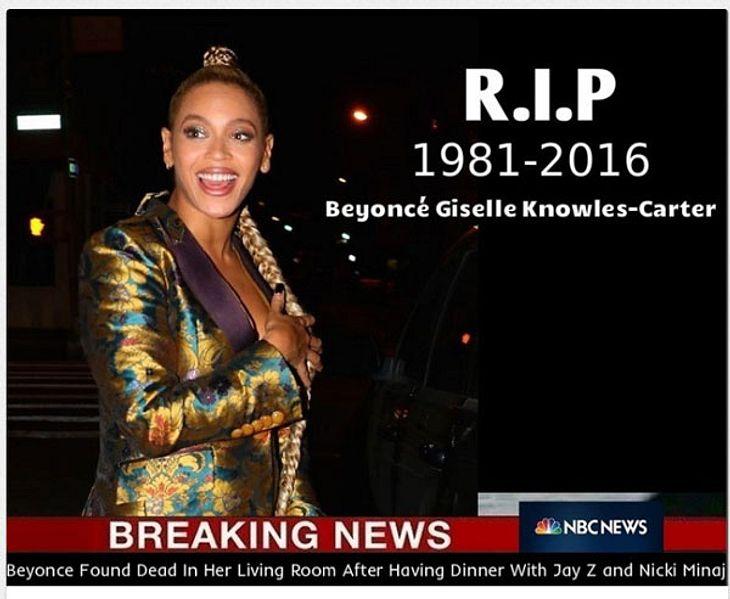 Beyonce tot Selbstmord