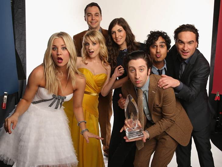 "Die Cast von ""The Big Bang Theory"" bei den ""People's Choice Awards""."