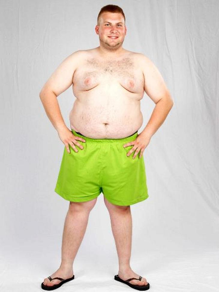 Biggest Loser 2013: Paride vorher Gestartet ist Paride (22) mit 126 Kilo.