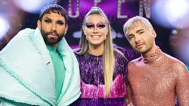 Conchita Wurst, Heidi Klum und Bill Kaulitz - Foto: ProSieben/ Martin Ehleben