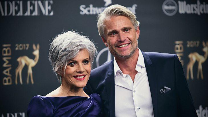 Birgit Schrowange und Freund Frank Spothelfer auf der Bambi Verleihung 2018