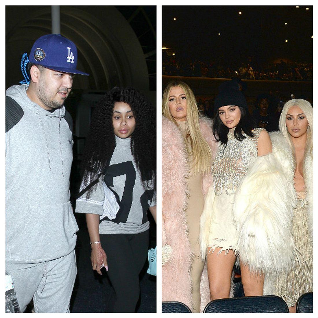 Robert Kardashian und  Blac Chyna gegen Khloe Kardashian, Kylie Jenner und Kim Kardashian