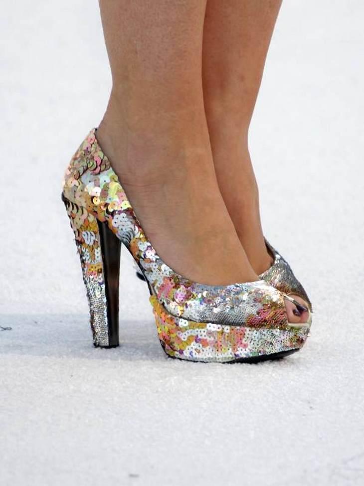 Pailletten:... und die Schuhe von Bonnie McKee sind auch nicht zu verachten.