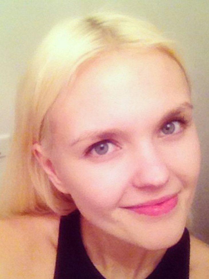 So sieht Bonnie Strange ohne ihr Make-Up aus.