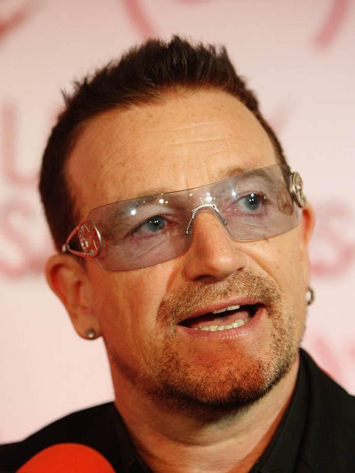 Bono kann man auf der Bühne in London bewundern.