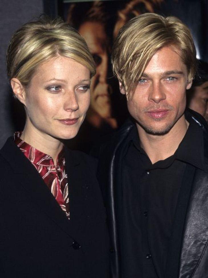 """Brad Pitt & Angelina JolieIm Film """"Sieben"""" lernt Brad Pitt Gwyneth Paltrow (39) kennen und verliebt sich. Die beiden waren zwei Jahre lang ein Paar, feierten sogar Verlobung, die 1997 wieder gelöst wurde."""