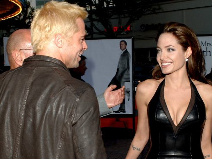 """Brad Pitt & Angelina JolieBei der Premiere von """"Mr. & Mrs. Smith"""" zeigten Angelina und Brad, dass sie sich mögen. Sogar noch nach der rechtskräftigen Scheidung von Brad Pitt und Jennifer Aniston im Oktober 2005 ließen die"""