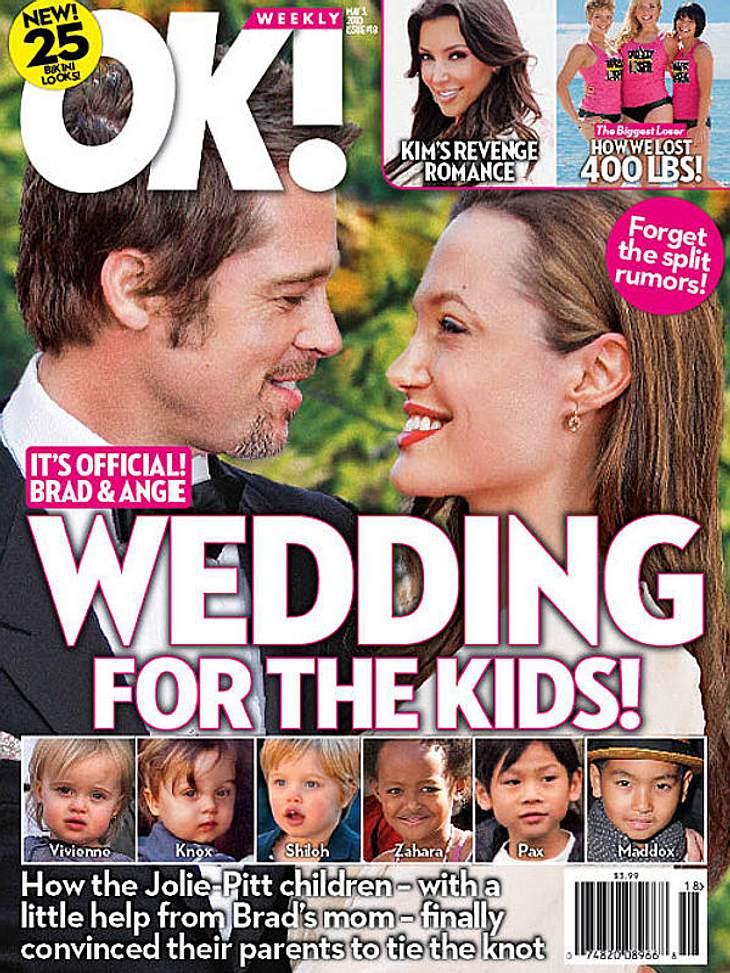 Wollen Angelina Jolie und Brad Pitt wirklich heiraten?