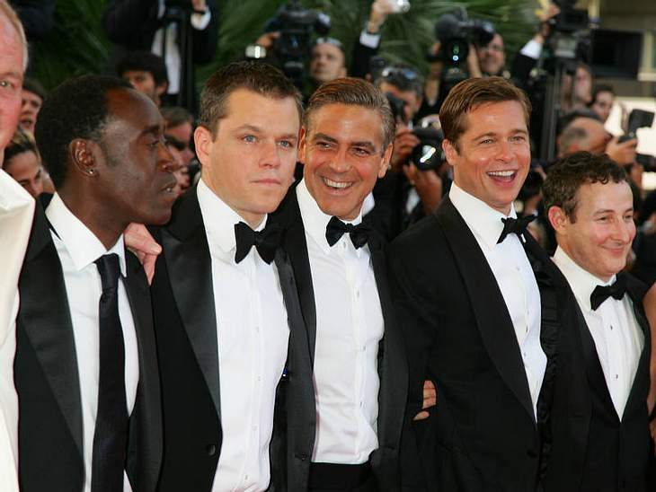 Die haben gut lachen: Matt Damon, George Clooney und Brad Pitt sind nicht nur auf der Leinwand, sondern auch hinter den Kulissen Best Buddies.