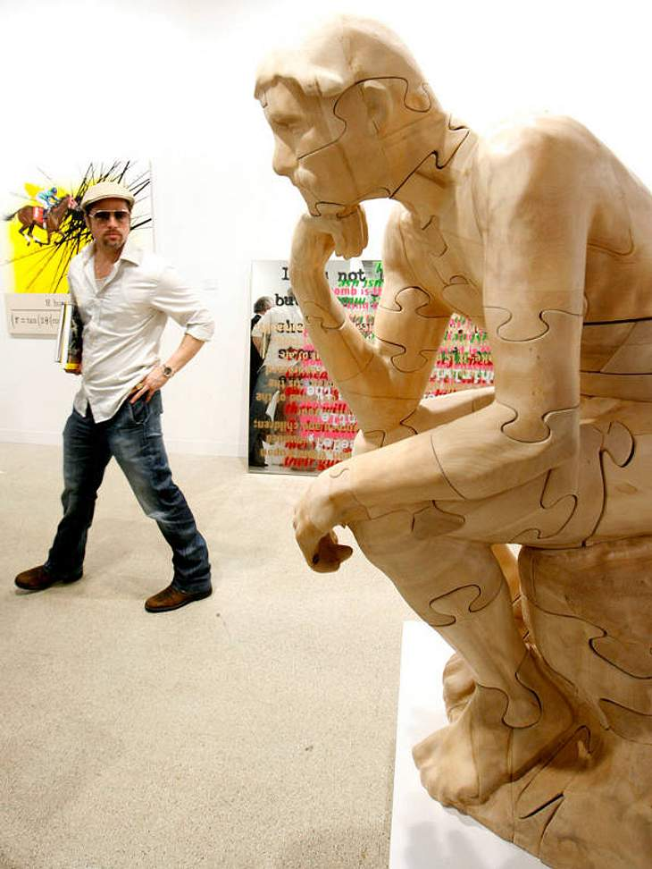 Brad Pitt ist leidenschaftlicher Kunstsammler: Neo Rauch und Banksy landeten schon im seinem Einkaufskorb.