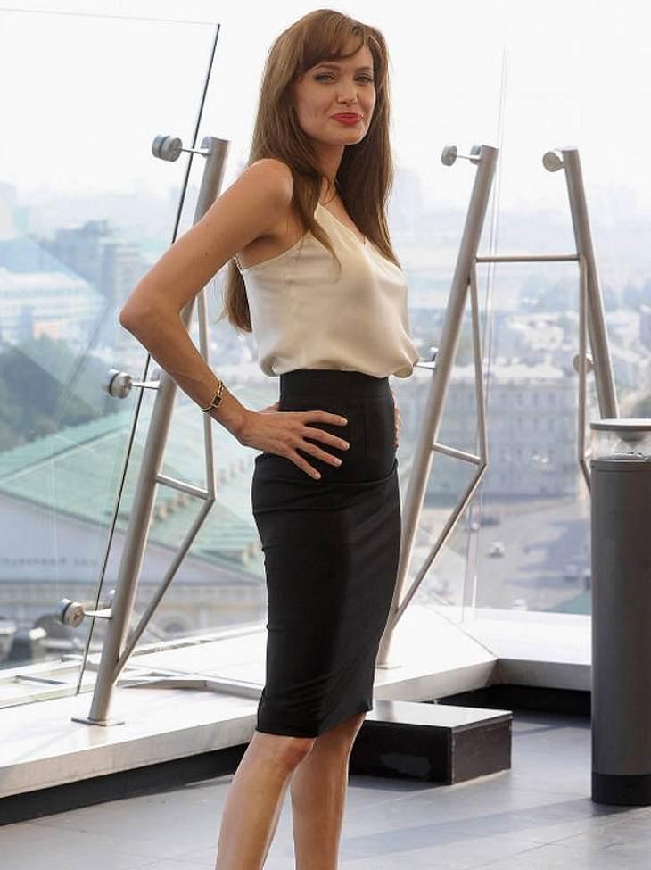 Heute wird sie immer zierlicher: vor wenigen Wochen zeigte sie sich im Streichholz-Look in Moskau.
