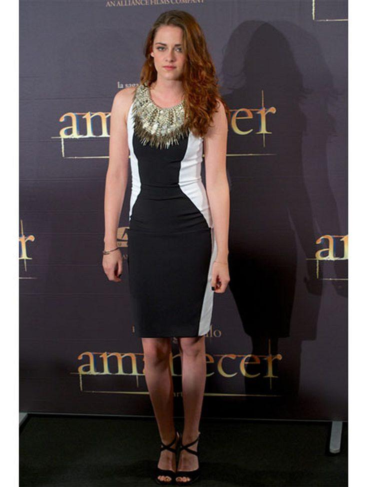 Der Premieren-Look von Kristen StewartBeim Fotocall in Madrid kam Kristen Stewart dann doch eher elegant.,