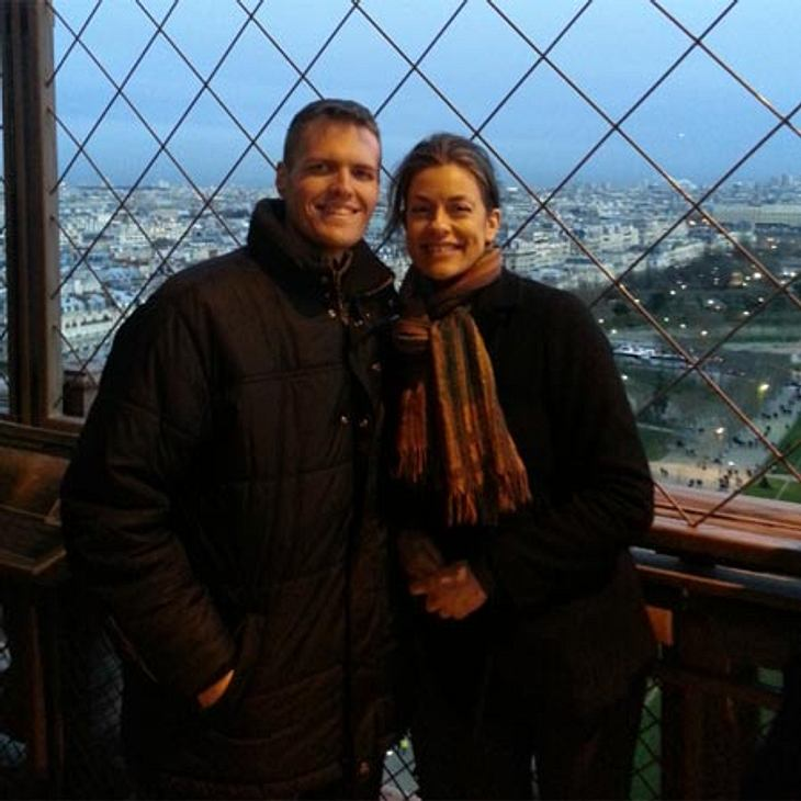 ...und besteigt im Dezember 2013 mit Jackie zusammen den Eiffelturm