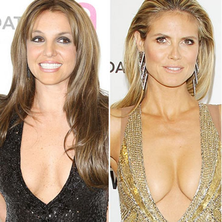 Busen-Battle: Britney Spears vs. Heidi Klum