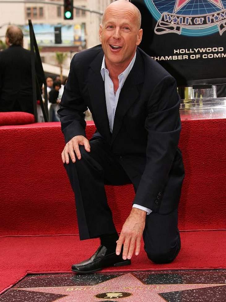 Walk of Fame: Die Sternstunde der Stars,Bruce Willis (56) war 2006 total verzückt über seinen eigenen Stern.