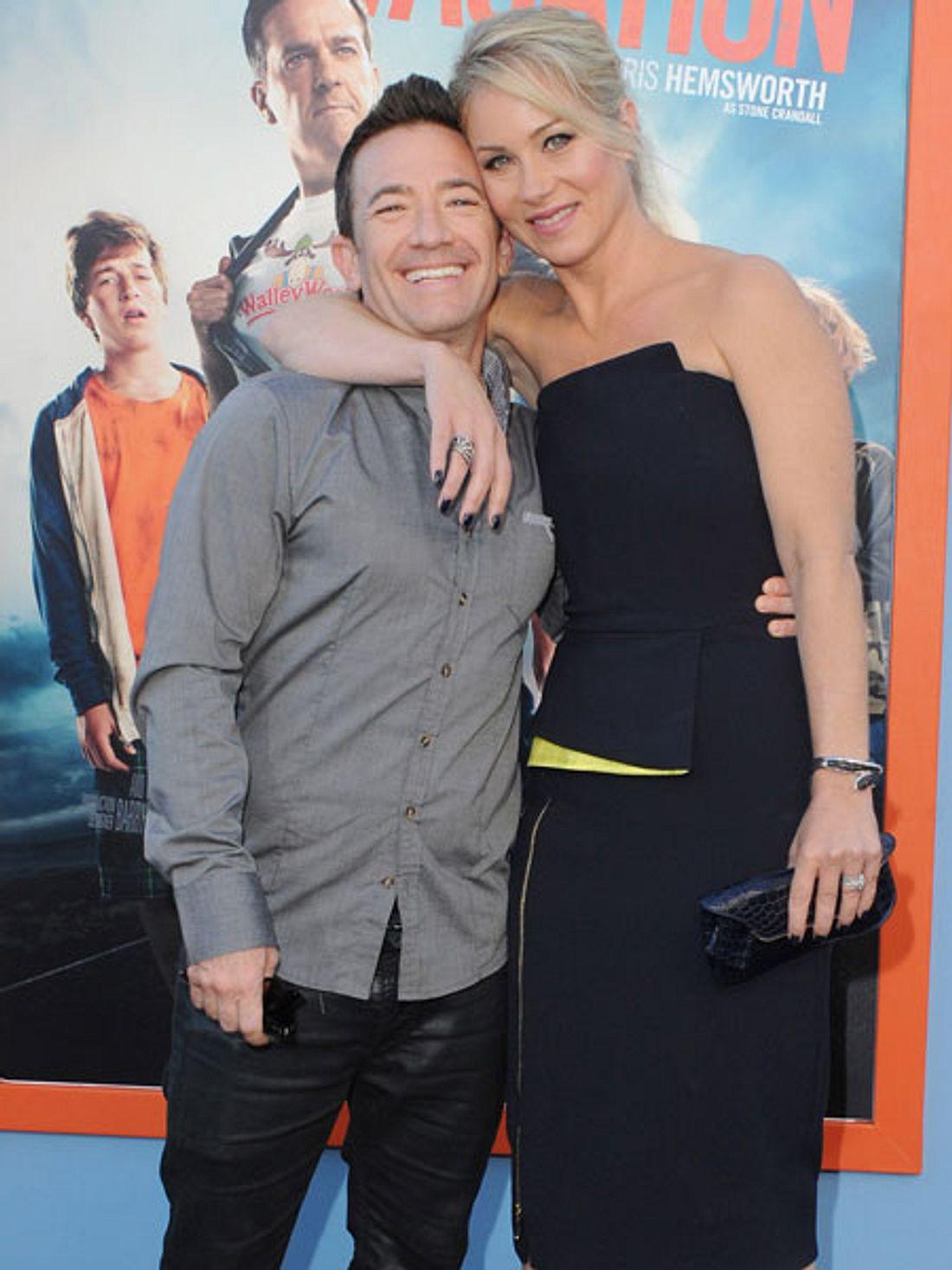 Christina Applegat und David Faustino feiern ihr Wiedersehen