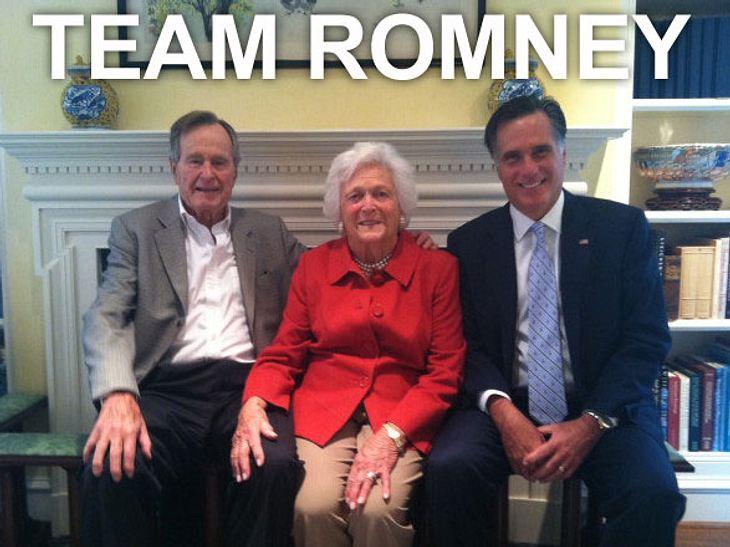Obama vs. Romney: Welchen Präsidenten wählen die Stars?Neben Ex-Präsidenten-Ehepaar Bush gibt es auch einige Promis, die am 6. November den republikanischen Kandidaten Mitt Romney wählen werden.