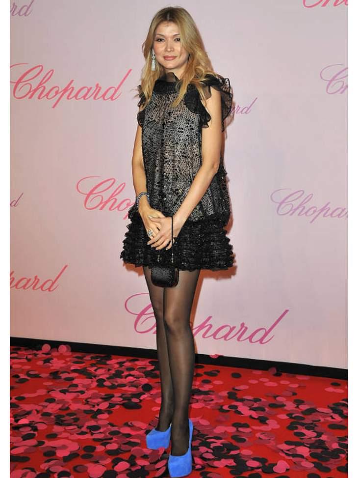 CannesGulnara Karimova hat in diesem Outfit überhaupt nichts auf dem roten Teppich zu suchen.