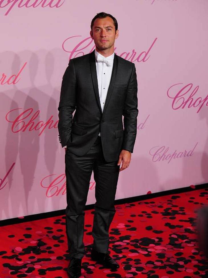 CannesAuch  Jude Law präsentierte sich auf dem roten Teppich des Chopard-Events.