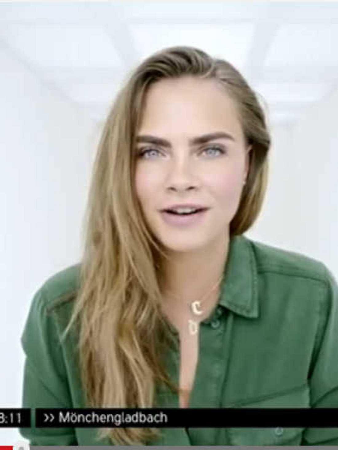Cara Delevingne spricht deutsch für Zalando-Werbung